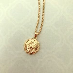 Gold Mother Mary necklace